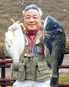 兵庫・淡路島でマコガレイと大型チヌを釣った廣瀬さん