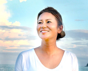 穏やかな表情を見せながらインタビューに応じる宮里藍さん(テレビ朝日提供)