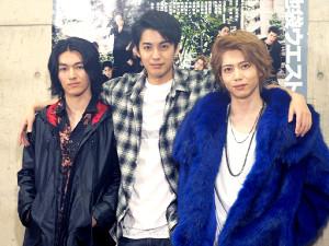 「池袋ウエストゲートパーク」史上初のミュージカル化への意気込みを語った(左から)矢部昌暉、大野拓朗、染谷俊之