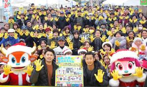 トークショーで宮崎をPRしたオリックスの(前列左から)海田、吉田一