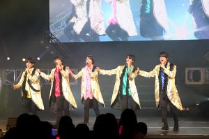 単独公演を行った東海地区を拠点に活動する5人組グループ「MAG!C☆PRINCE」(左から)大城光、平野泰新、西岡健吾、阿部周平、永田薫