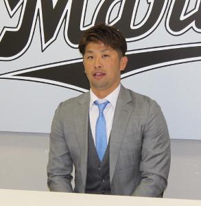 球団の大トリで契約更改したロッテ・清田
