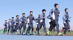 調整を行う東京国際大の選手たち