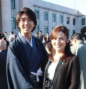 宮崎謙介氏と金子恵美氏