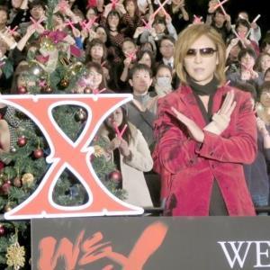 「WE ARE X」のクリスマス上映会に出席したX JAPANのYOSHIKI