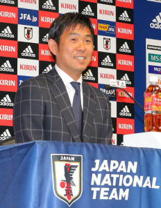 U―21日本代表メンバー発表会見で笑顔の森保監督(カメラ・森田 俊弥)