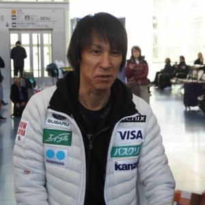 羽田空港から出発した葛西紀明