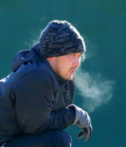 ジャイアンツ球場で自主トレを行った阿部。ランニング後、体からは湯気が立ち上っていた(カメラ・生澤 英里香)