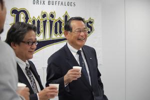 今年いっぱいで球団社長を退任するオリックスの西名球団社長