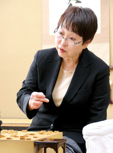 今月15日、女流名人戦予選で勝利した蛸島彰子女流六段