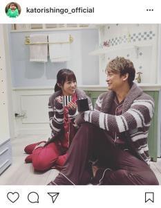 香取慎吾、深田恭子のインスタ2ショット披露に「素敵な2人