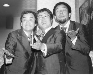 レツゴー3匹の(左から)レツゴーじゅんさん、レツゴー正児、レツゴー長作さん(1978年撮影)