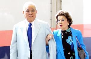 野村克也氏と沙知代さん