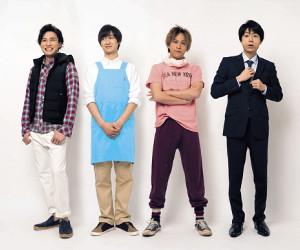 4人で連ドラ主演する「舞祭組」の(左から)二階堂高嗣、宮田俊哉、千賀健永、横尾渉(c)NTV.JS