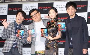 イベントに出席した(左から)有村昆、久保田かずのぶ、武田玲奈、村田秀亮