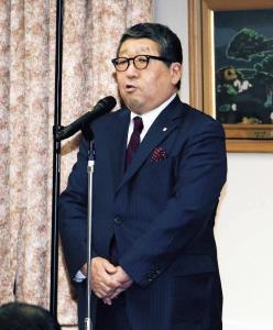 懇親会に出席した北海道ガスの土谷常務執行役員