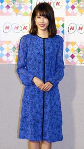 「NHK語学番組」発表会見に出席した加藤綾子アナ