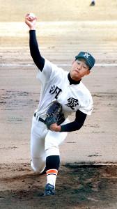 プロ7球団が視察した中で6回無失点に抑えた汎愛の羽田野温生