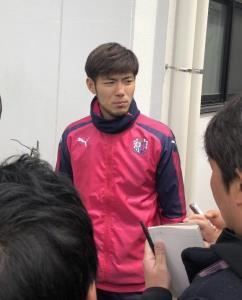 ハリルホジッチ監督解任報道を受け、取材にこたえるC大阪の日本代表FW杉本