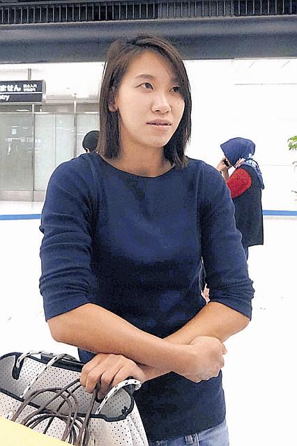 シンガポール遠征から帰国した陸上女子短距離の福島千里