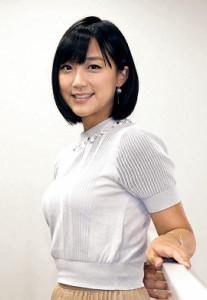 笑顔が魅力のテレビ朝日の竹内由恵アナウンサー