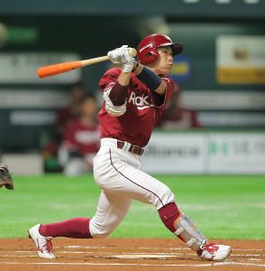 6回2死、岡島が右越え本塁打を放つ(カメラ・岩下 翔太)