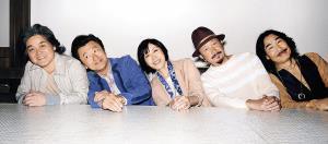 デビュー40周年を迎えるサザンオールスターズの(左から)松田弘、桑田佳祐、原由子、関口和之、野沢秀行