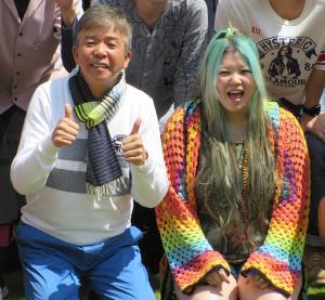 「吉本坂46」の第2次選考を通過した村上ショージと娘・ぬゅぬゅゅゆゅゅゅゅゅ