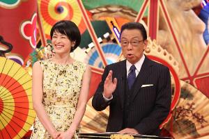 番組MCの梅沢富美男(右)と、番組進行の阿部哲子(C)フジテレビ