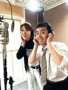 レコーディングを行った藤山扇治郎と北翔海莉