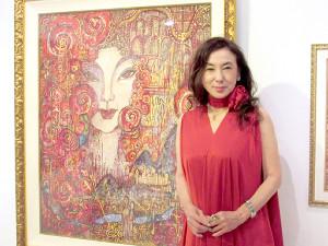 蜷川有紀、絵画展で婚約者の猪瀬元知事について「ウフフ」 : スポーツ報知