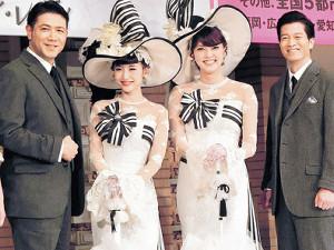 「マイ・フェア・レディ」に出演する(左から)別所哲也、神田沙也加、朝夏まなと、寺脇康文