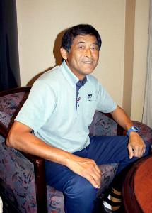 現在居住している宮崎市内で五輪の思い出を語る谷口さん