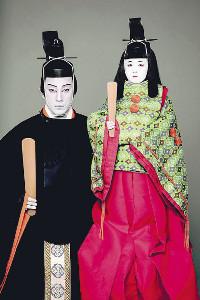 篠山紀信氏撮影による「三國無雙瓢箪久」での市川海老蔵と堀越勸玄くん