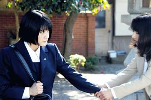 「未来のあたし」では織田(左)と櫻井淳子がダブル主演