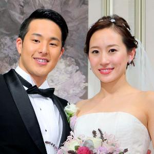 瀬戸大也(左)と優佳さん