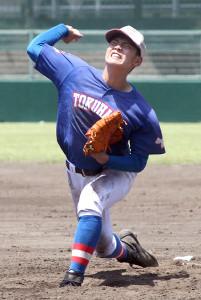横浜との練習試合で2失点13奪三振で完投した花咲徳栄・野村