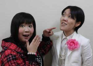 アジアンの馬場園梓(左)と隅田美保