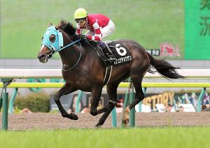 9R開成山特別 人気に応え優勝した武豊騎乗のオジュウチョウサン(カメラ・橋口 真)