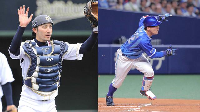 オリックス・伊藤光(左)とDeNA・高城