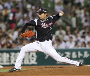 7回2死、一、二塁、2番手で登板して1勝目を挙げた松永