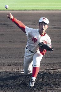 6回参考ながら無安打無得点を達成した智弁和歌山・平田
