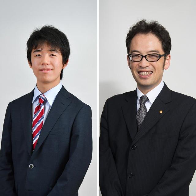藤井七段(左)と今泉四段