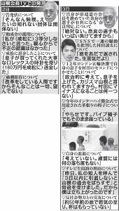 山根会長TVでの発言