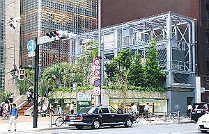 ソニービル跡地にオープンした「Ginza Sony Park」外観