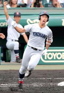 3回無死一塁、左越え2ランを放つ横浜・斉藤