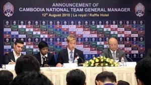 カンボジア代表のGMに就任したことを発表する本田圭佑(C)HONDA ESTILO