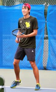 ジャカルタ・アジア大会に出場するテニス日本代表の綿貫陽介