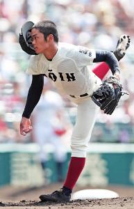 先発で8回4失点と粘った大阪桐蔭・根尾