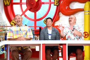 「マルコポロリ!」に出演した安田大サーカスの(左から)HIRO、団長安田、クロちゃん